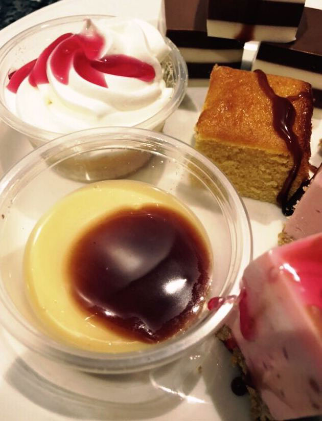 Selection of desserts in the Aroma buffet