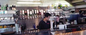 aroma alcoholic and soft drinks available